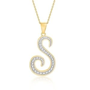 Jewelry - 14K Gold Diamond Accent Initial Pendant Necklace